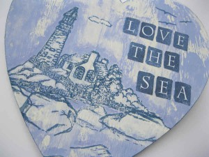 Love The Sea Stamped and Painted panel