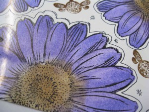 Purple Daisy stamped by stampendous Jumbo Daisy stamp