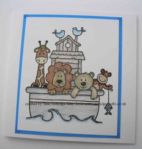 Noah's Ark by Woodware stamp