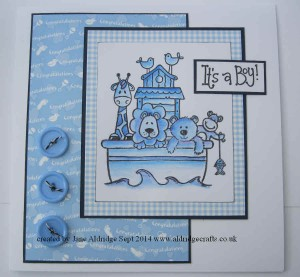 Woodware Noah's Ark Stamp