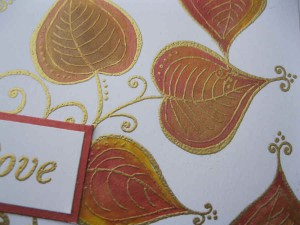 Woodware Leaves and Swirls Stamp