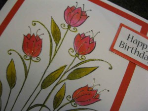 Woodware Burst Into Bloom Stamp