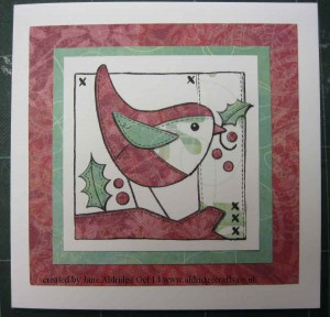 Woodware Patch Robin Stamp