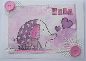 woodware Patch Elephant stamp