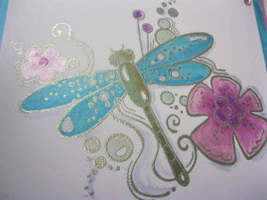 Woodware Dragonfly Stamp