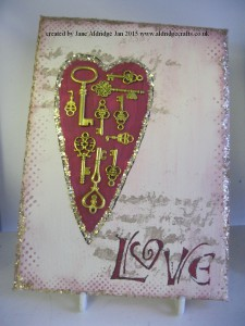 Altered Art Heart Canvas