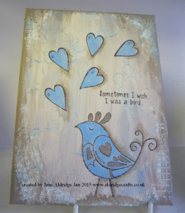 Woodware Love Birds Stamped Canvas