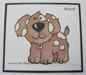Woodware Puppy Love Stamp
