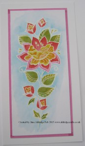 Woodware Persian Flower Stamp