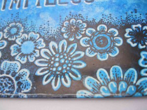 Chocolate Baroque Floral Edges Stamp