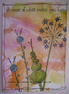 PaperArtsy topiary stamp