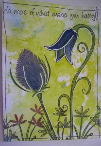 PaperArtsy Harebell Stamp
