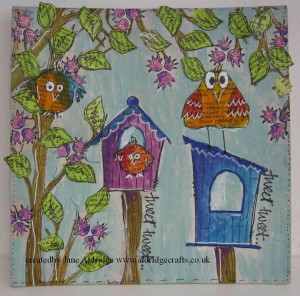 PaperArtsy Bird Stamps