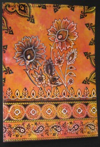 Chocolate Baroque Indian Textiles Stamp