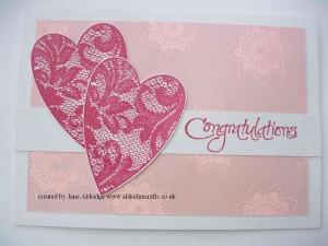 woodware lace heart stamps