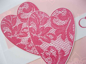 woodware lace heart stamp