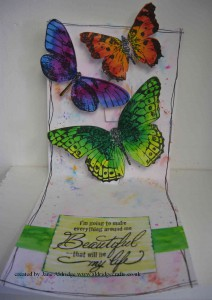 Stampendous Butterfly Trio stamp