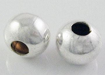 3mm Spacer Beads (1mm hole) - Silver Colour.  Approx 100