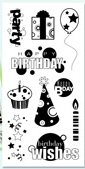Birthday Fun Clear Inkadinkado Stamp Set