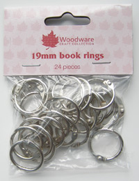 Book rings - 19mm 24 pieces silver