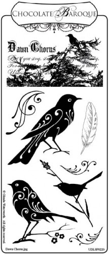 Chocolate Baroque Dawn Chorus Rubber Stamp