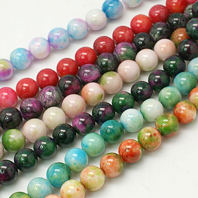 Dyed Jade Beads - 8mm - 25 beads