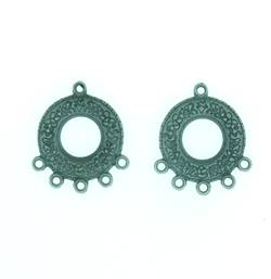 Earring Connector - Steampunk style in antique silver (pack of 4)