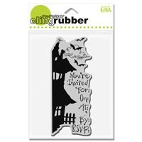 Fright Invite Stampendous Cling Stamp