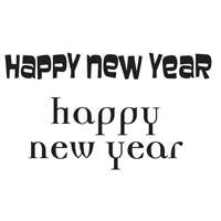 Happy New Year Mini Clear Woodware Stamp (JWS034)