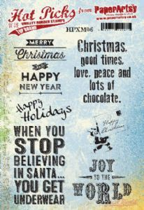 Hot Pick Xmas 06 PaperArtsy Stamp (HPXM06)