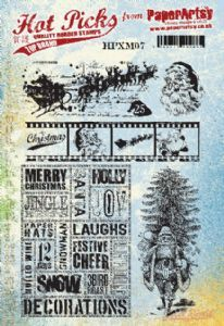 Hot Pick Xmas 07  PaperArtsy Stamp (HPXM07)