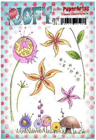 JOFY24 (A5 stamp set, trimmed, EZ mounted) (JOFY24) PaperArtsy Stamp