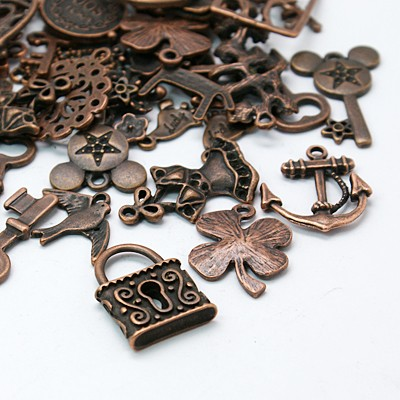Lucky Dip Copper Findings and Charms bag