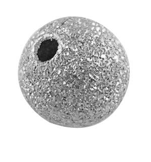 Round Stardust Beads - Nickel Colour - 8mm (10 beads )