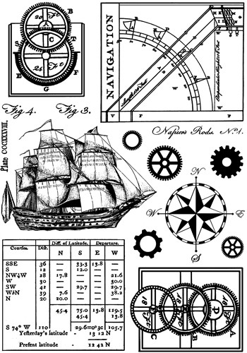 Ship and Navigation Elements Crafty Individuals Stamp (CI-294)