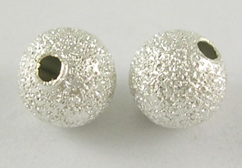 Stardust Beads - Silver Colour - 6mm - Pack of 15