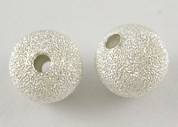 Stardust Beads, Silver Colour, Round, 8mm (10 beads)