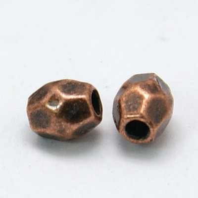 Tibetan Style Beads - Copper Spacers (50 beads)