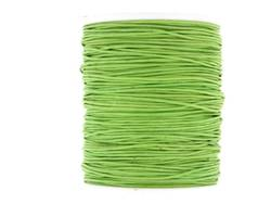 Wax cotton 0.6mm - Lime Green (one metre)