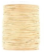Wax cotton 0.6mm - Pale Straw (one metre)