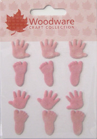 Woodware Flock Brads - Baby Girl