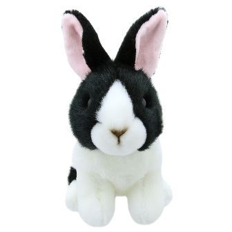 Black and White Dutch Rabbit Mini Wilberry Toy