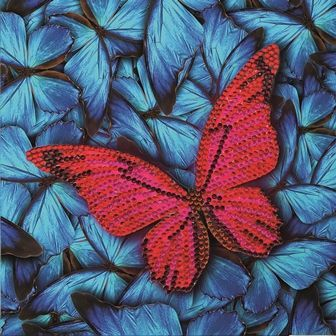 Butterfly Crystal Art Card Kit