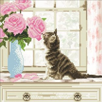 Cat 30x30cm Crystal Art Kit