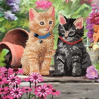 Cat Friends Crystal Art Card Kit