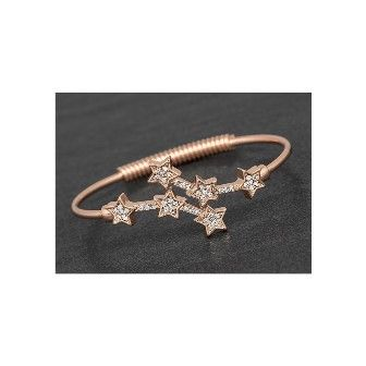 Celestial Pass Stars Rose Gold Plated Bangle