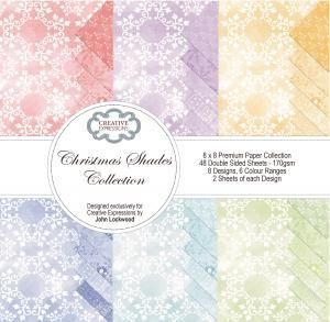 Christmas Shades Collection 8x8 Premium paper pad