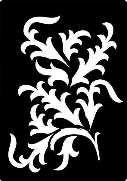 Creative Expressions Mini Stencil Fancy Vine