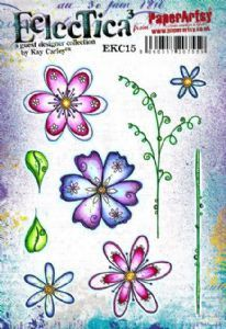 E³ Kay Carley 15 (A5 set, trimmed, on EZ) (EKC15) PaperArtsy Stamp