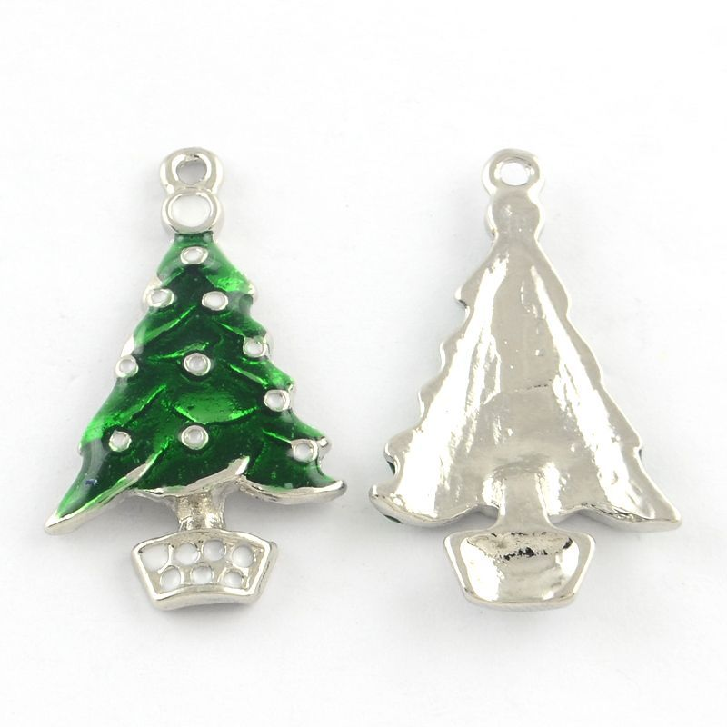 Enamel Christmas Tree Charms (pack of 2)